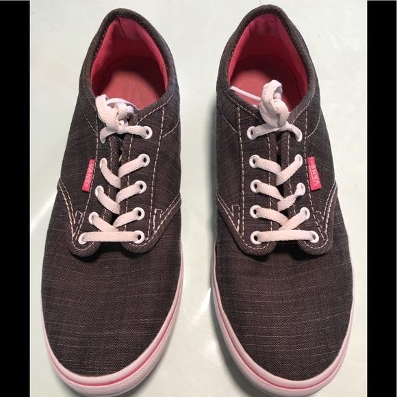 a82ac7ca80 Vans Gray Sneakers Pink Bottoms 7. M 5c73e84434a4ef93405911b8